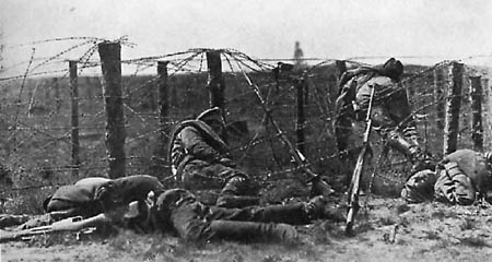 WWI razor wire obstruction